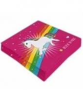 Regenboog pony servetten roze type 2 staand trend