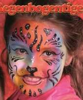 Regenboog tijger schminken schminkset 6 delig trend