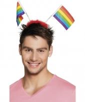 Regenboogvlag tiara trend
