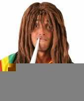 Reggae rasta verkleedpruik voor mannen trend