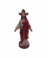 Religieuze jezus beeldje sacre coeur 13 cm trend