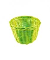 Rieten mandje groen 14 cm trend