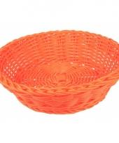 Rieten mandje oranje 25 cm trend