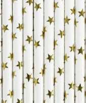 Rietjes met gouden sterren 20 stuks trend
