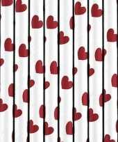 Rietjes met rode hartjes 10 stuks trend
