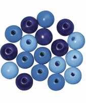 Rijgkraaltjes blauw gekleurd 6 mm trend