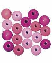 Rijgkraaltjes roze gekleurd 4 mm trend