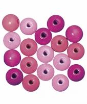 Rijgkraaltjes roze gekleurd 6 mm trend