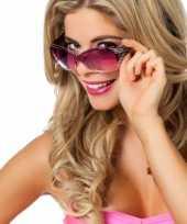 Rock en roll brillen paarse met glitters trend