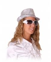 Rock en roll brillen wit met glitters trend