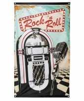 Rock n roll vlag 90 x 150 cm trend