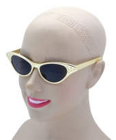 Rockabilly gouden zonnebrillen trend
