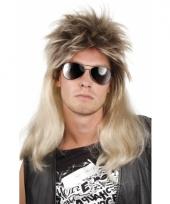 Rocker heren pruik blond haar trend