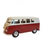 Rode 1962 hippiebus speelgoedauto 15 cm trend