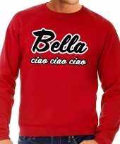 Rode bella ciao sweater voor heren trend