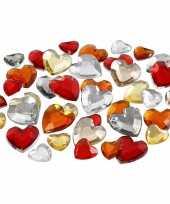 Rode diamanten stenen hart trend