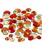 Rode diamanten stenen rond trend