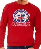 Rode engeland drinking team sweater heren trend
