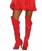 Rode glimmende laarshoezen voor dames trend