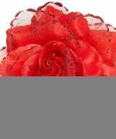 Rode haarbloem met glitters trend