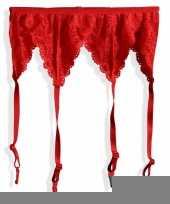 Rode jarretel met kant trend