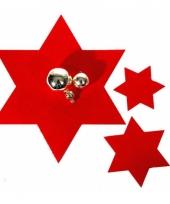 Rode kerst onderzetters 6 stuks trend