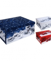 Rode kerstballen opbergbox 49 cm trend