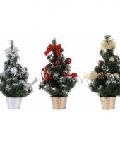 Rode kerstboom met decoratie 40 cm trend