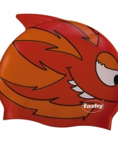 Rode kinder badmuts met vissen trend