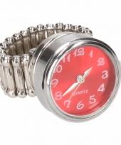 Rode klok chunk ring voor volwassenen trend