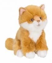 Rode langharige poezen katten knuffel 15 cm trend
