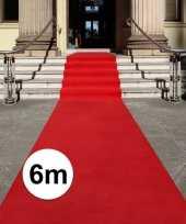 Rode loper 6 x 1 meter trend
