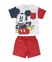 Rode mickey mouse korte pyjama jongens trend