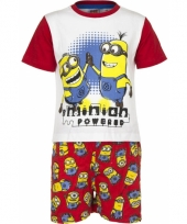 Rode minion powered korte pyjama jongens trend