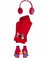Rode minnie mouse winterset 3 delig trend
