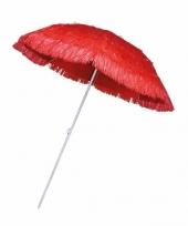 Rode parasol voor een hawaii feest trend