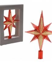 Rode piek ster vorm 25 cm trend