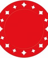 Rode placemats met sterren 33 cm trend