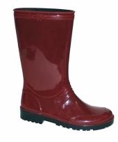 Rode pvc regenlaarzen voor dames trend