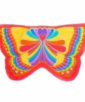Rode regenboog vlinder vleugels voor kinderen trend
