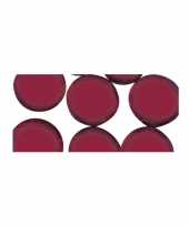 Rode ronde mozaiek steentjes trend