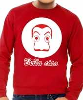 Rode salvador dali sweater voor heren trend