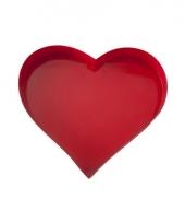 Rode serveerschaal hart vorm 30 cm trend