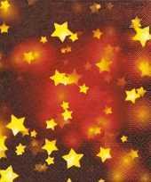 Rode servetten met gouden sterretjes trend