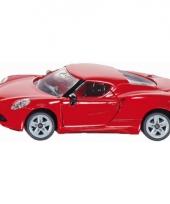 Rode siku speelgoed auto alfa romeo 4c trend
