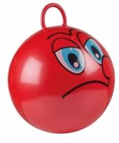 Rode skippybal met gezicht 45cm trend