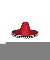 Rode sombrero 60 cm voor volwassenen trend