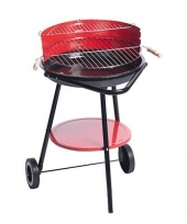 Rode stalen barbecues 76 cm trend