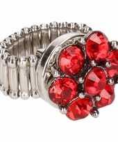 Rode steentjes chunk ring voor volwassenen trend