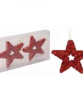 Rode ster kerstboom hangers 13 cm trend